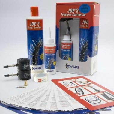 KIT TUBELESS COMPLETO 2 RODAS JOE´S P/AROS 16-17MM PV