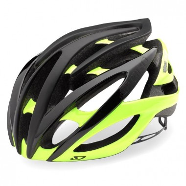 CAPACETE GIRO ATMOS II PRETO MATE/HIGHLIGHT AMARELO T-S