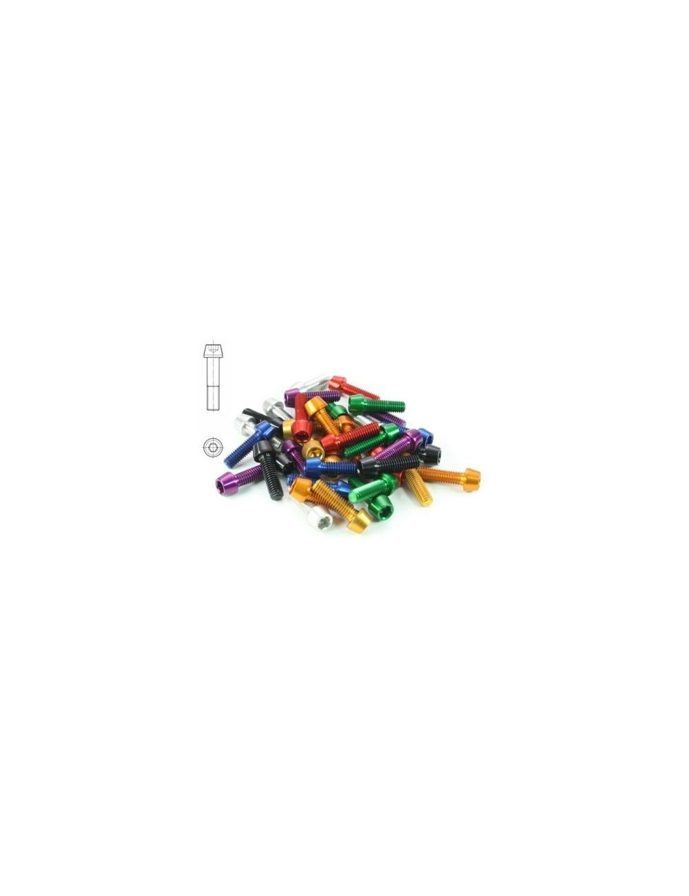 PARAFUSO TCCE AL7075-T6 M6X40 VERMELHO 3.6GR