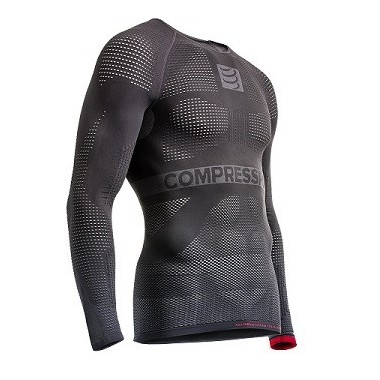 JERSEY COMPRESSPORT ON/OFF MULTISPORT SHIRT LS CINZA