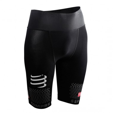 CALÇÕES COMPRESSPORT TRAIL RUNNING SHORT V2 PRETO TAM-3