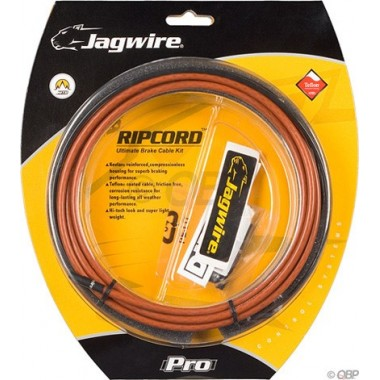 KIT CABOS JAGWIRE TRAVAO RIPCORD CASTANHO DIRT RAG