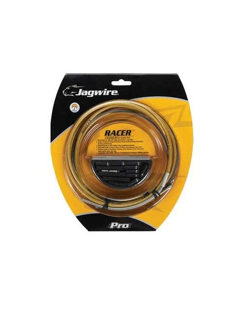 KIT CABOS JAGWIRE MUDANÇA/TRAVAO RACER GOLD