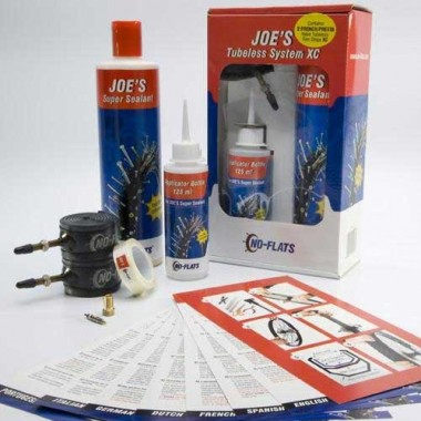 KIT TUBELESS COMPLETO 2 RODAS JOE´S P/AROS 18-23MM PV