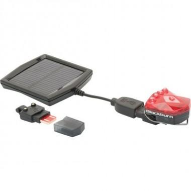 BLACKBURN FLEA USB + SOLAR PRETA