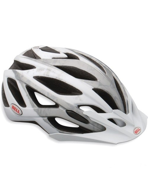 CAPACETE BELL SEQUENCE BRANCO MATTE/ CINZA LOGOS