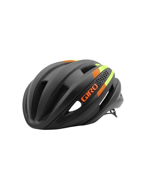 CAPACETE GIRO SYNTHE 2016 MATTE BLACK/LIME FLAMES T-M