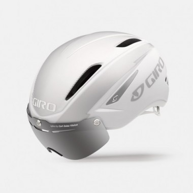 CAPACETE GIRO AIR ATTACK SHIELD 2016 MATTE WHITE/SILVER