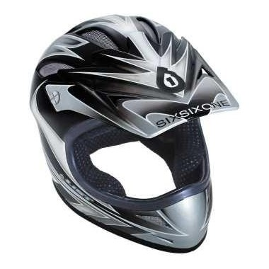 CAPACETE SIX-SIX-ONE FULL COMP GRAPHITE T-XL