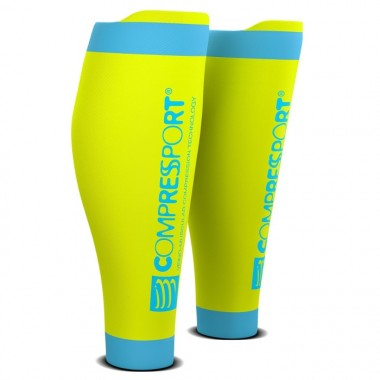 COMPRESSPORT R2 - T2 AMARELO FLUORESCENTE