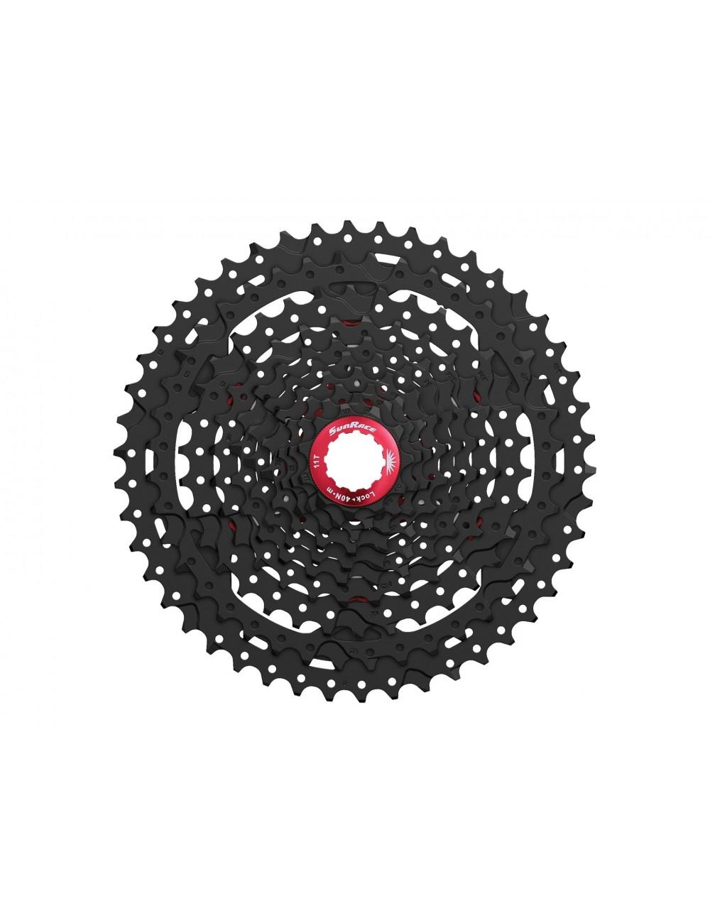 CASSETE SUN RACE 10v 11-46 Metalic/Red CSMX3